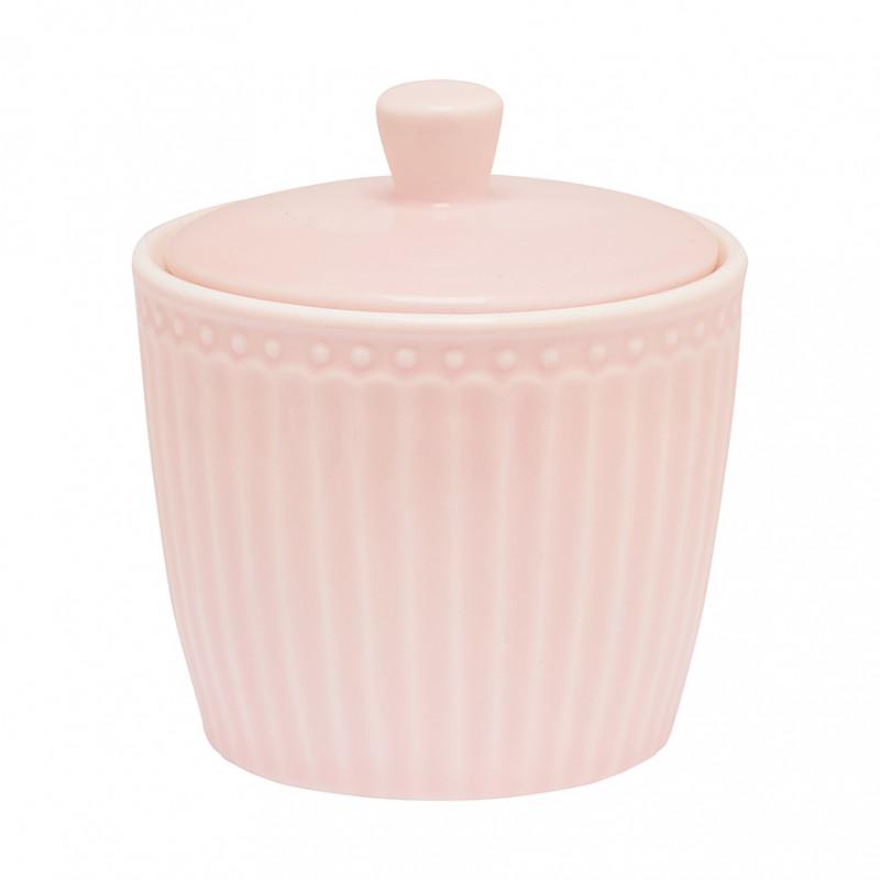 Greengate Zuckertopf ALICE Rosa Everyday Geschirr Pale Pink Sugar Pot Greengate Produkt Nr STWSUGAALI1906