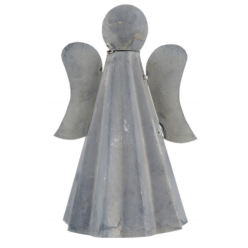 IB Laursen  Deko Figur Engel Stehend Weihnachtsdeko Grau aus Metall Geschenk