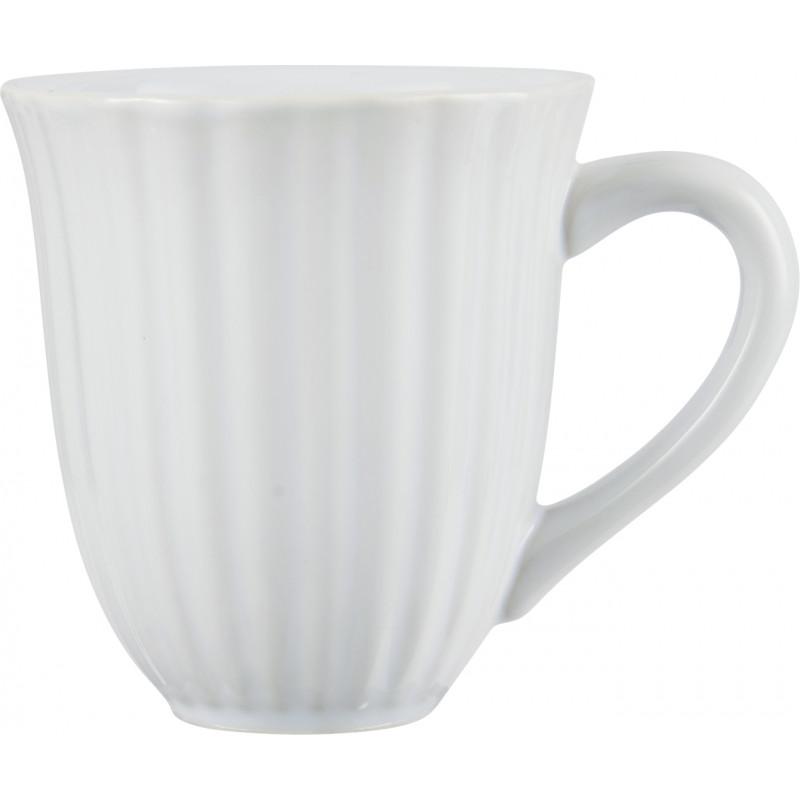 IB Laursen Becher mit Rillen weiß Mynte Geschirr Kollektion Pure White