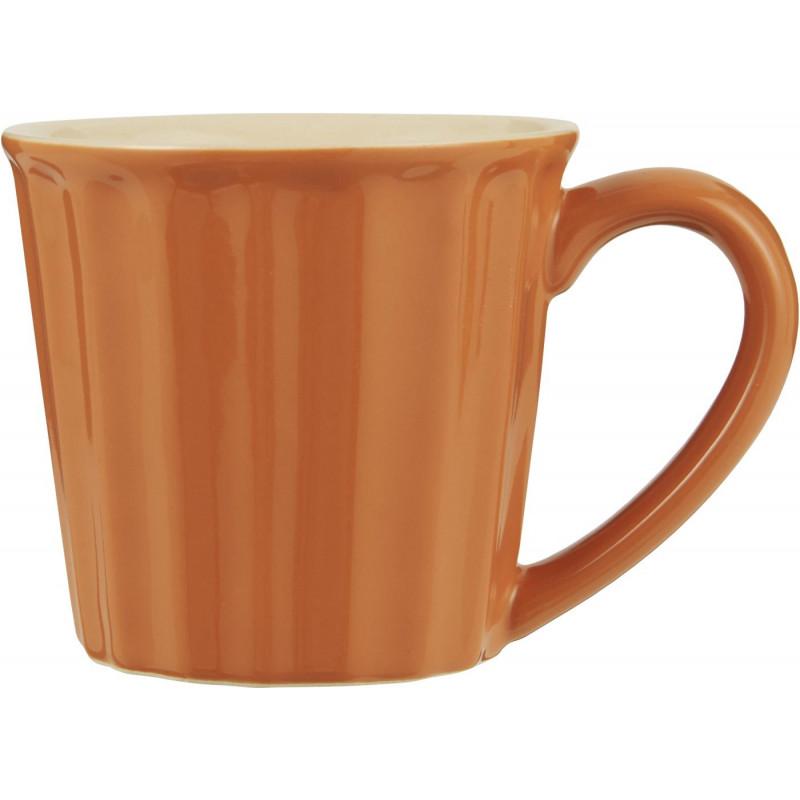 IB Laursen Becher Mynte Orange Keramik Geschirr Pumpkin Spice Tasse mit Henkel 250 ml