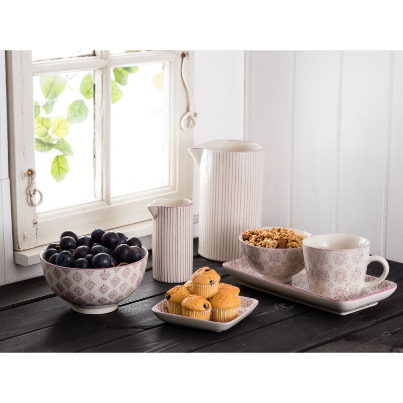 ib laursen schale casablanca gro lila farbiges blumen. Black Bedroom Furniture Sets. Home Design Ideas