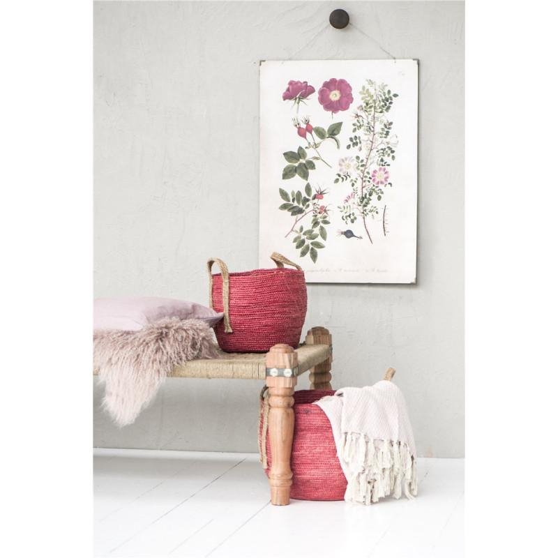 rosa wolldecke karo muster von ib laursen. Black Bedroom Furniture Sets. Home Design Ideas
