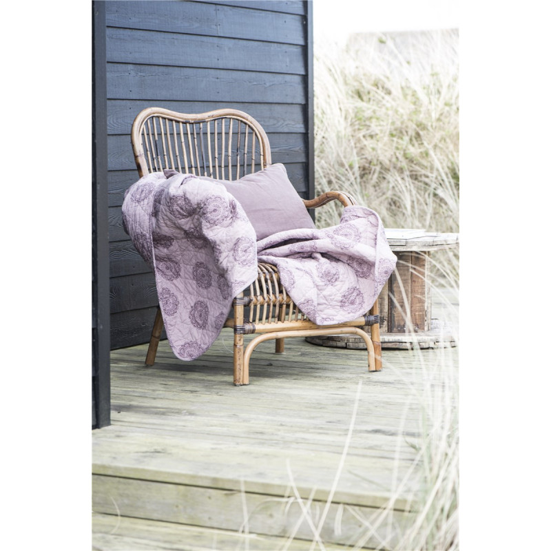 rosa farbige decke mit kreis motiv von ib laursen. Black Bedroom Furniture Sets. Home Design Ideas