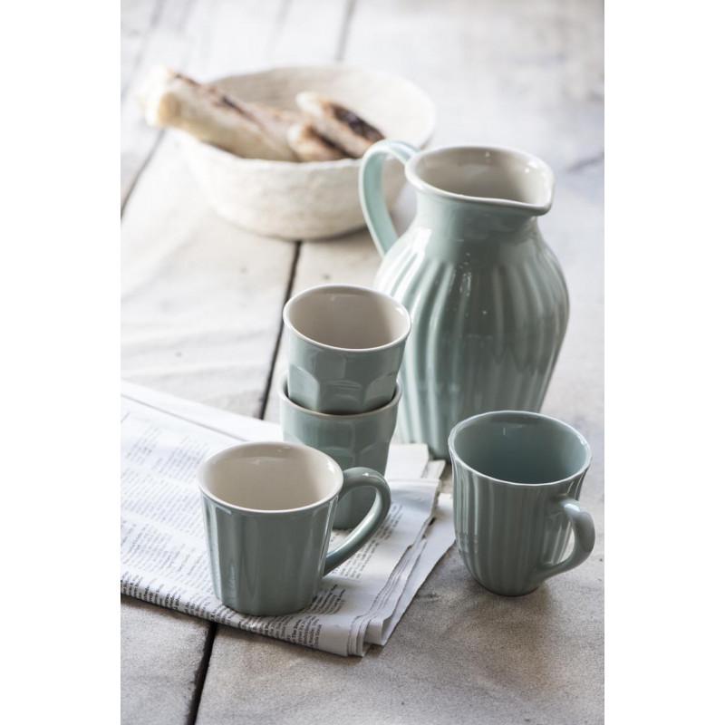 IB Laursen Geschirr Mynte Green Tea Becher Kanne Latte Mug hellgrün