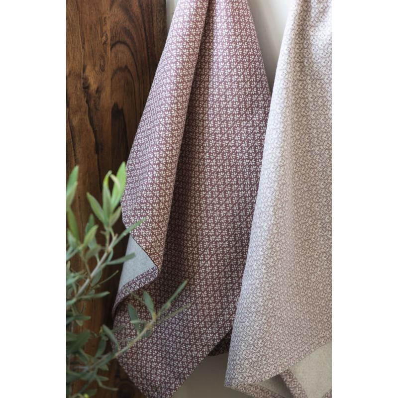 IB Laursen Geschirrtuch Desert Rose mit Muster Weiss 50x70 cm aus Baumwolle