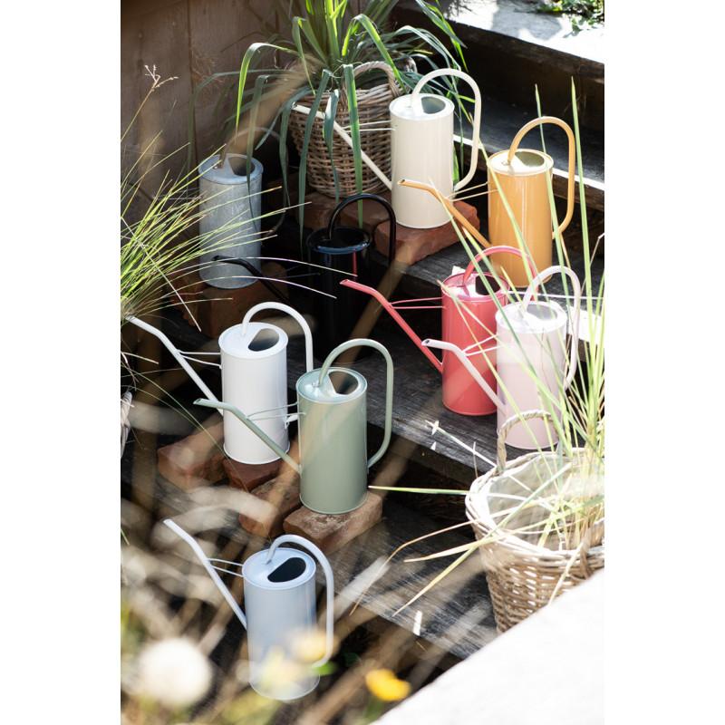 IB Laursen Gießkanne Grün 2,7 Liter mit Griff aus Metall dekorativ modernes Design verschiedene Farben