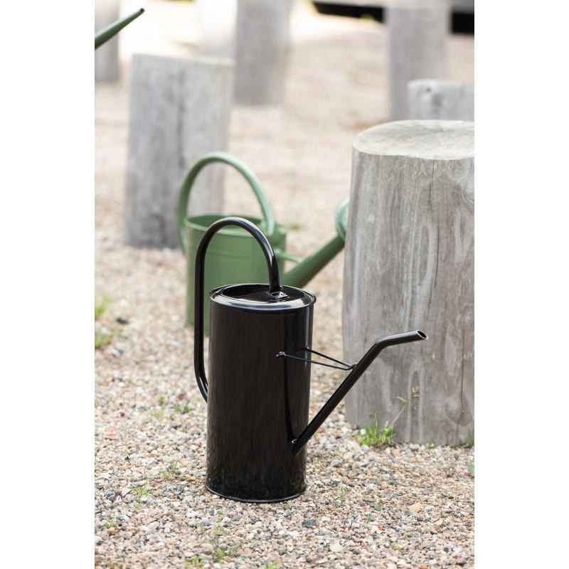 IB Laursen Gießkanne Schwarz 2,7 Liter mit Griff aus Metall Garten und Zimmer Deko schlichtes modernes Design