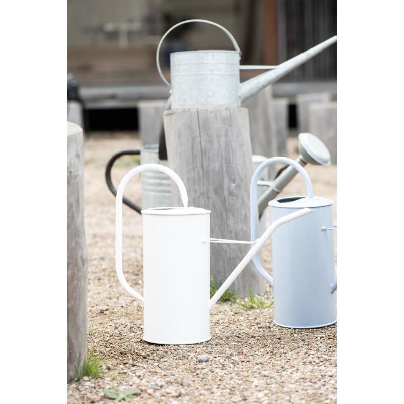 IB Laursen Gießkanne Weiss 2,7 Liter mit Griff aus Metall Garten und Zimmer Deko schlichtes modernes Design