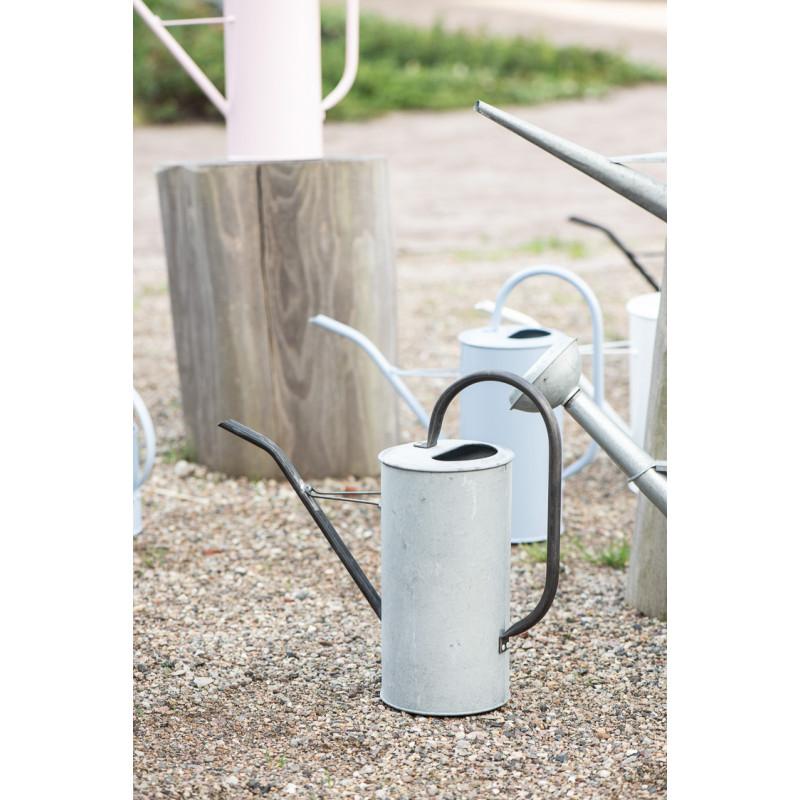 IB Laursen Gießkanne Zink Grau 2,7 Liter mit Griff aus Metall Schwarz Garten und Zimmer Deko schlichtes modernes Design
