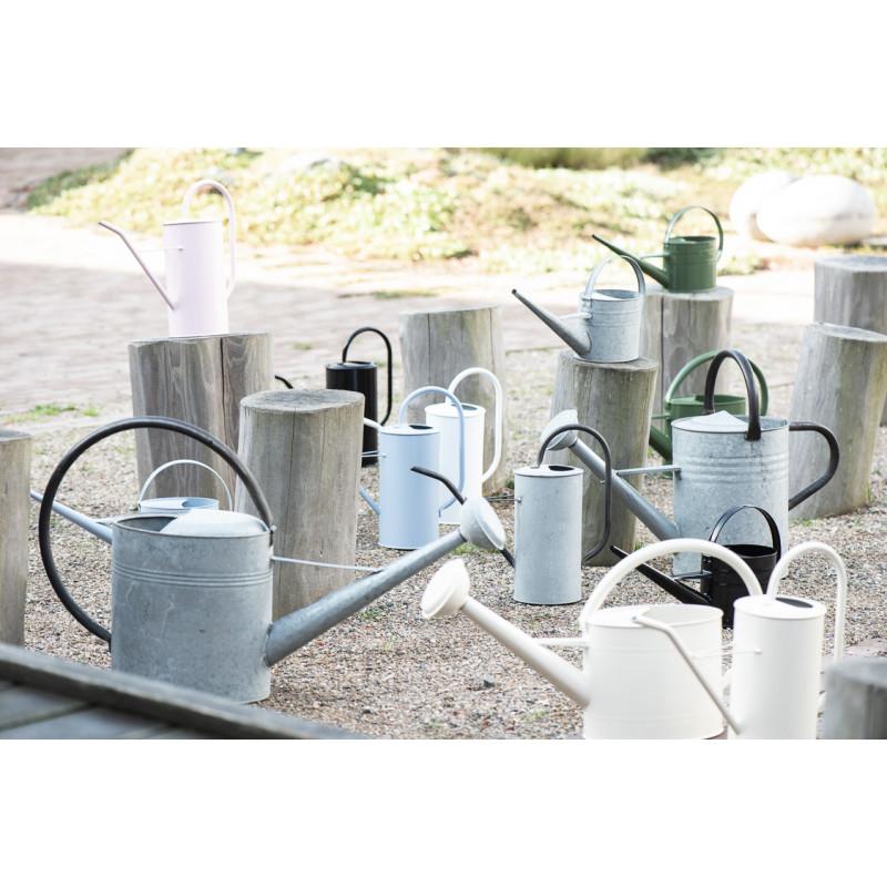 IB Laursen Gießkanne Zink Grau 2,7 Liter mit Griff aus Metall Schwarz verschiedene Größen und Farben