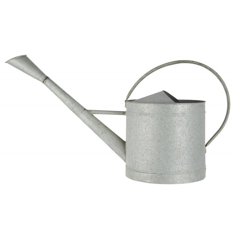 IB Laursen Gießkanne Zink Grau 10 Liter mit Griff aus Metall Ib Laursen Garten Deko Nr 4240-18