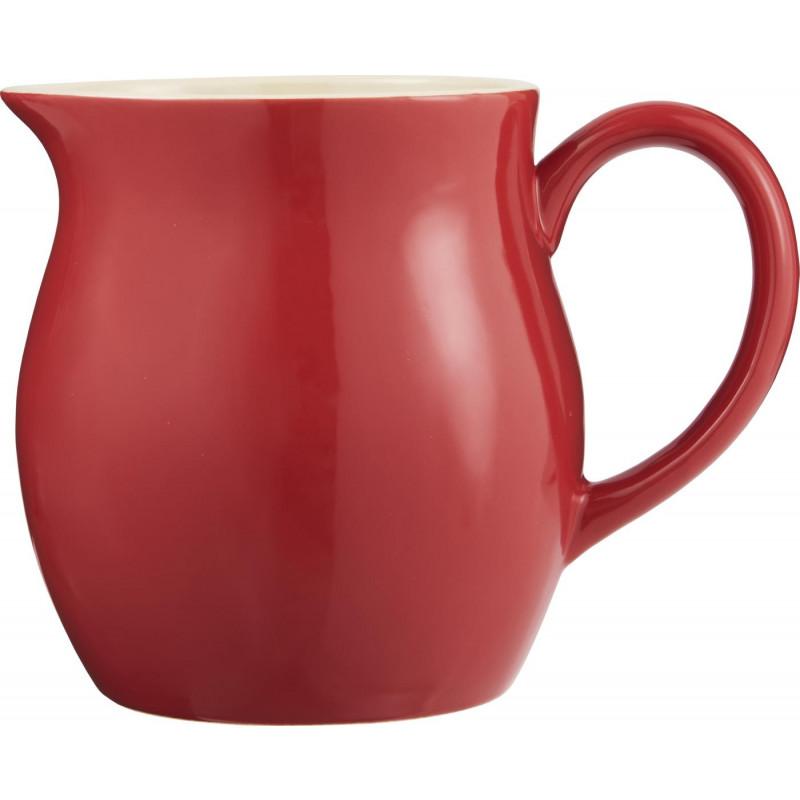 IB Laursen Große Mynte Kanne fuer 2,5 Liter rot Krug aus Keramik Strawberry