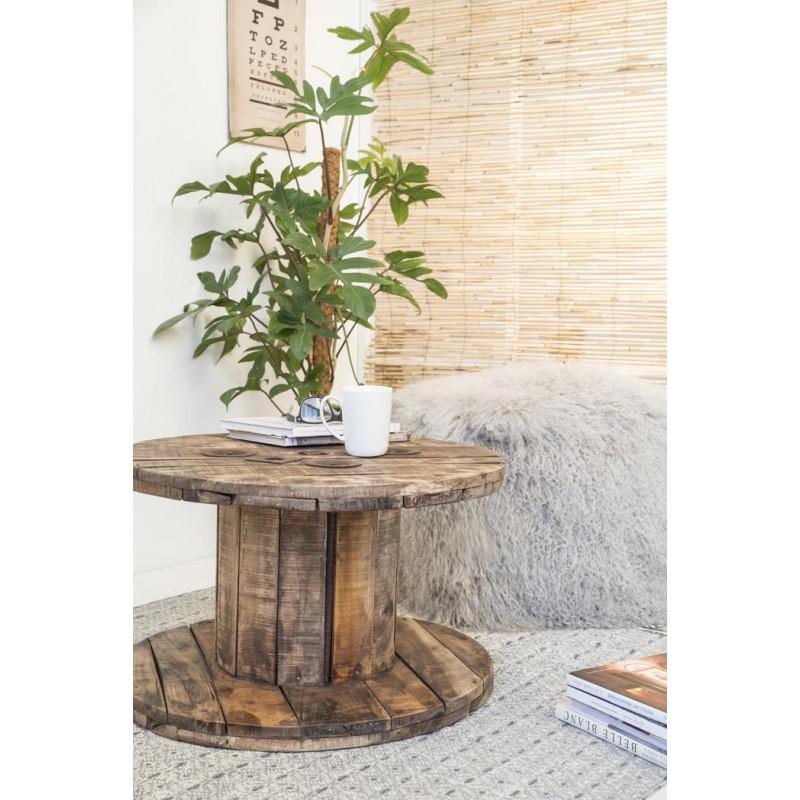 Ib laursen tisch kabeltrommel unika aus holz for Gartendeko tisch