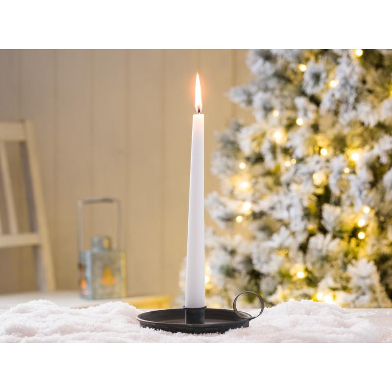 IB Laursen Kerzenhalter Kammerleuchte grau Weihnachtsdeko mit weisser Kerze