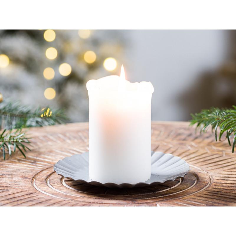 IB Laursen Kerzenteller aus Metall 13 cm Weihnachten und Winter Geschenkidee Kerzentablett Weihnachstdeko und Advent