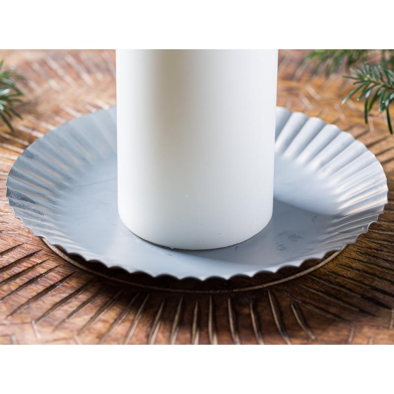 IB Laursen Kerzenteller groß aus Metall 19 cm Weihnachten und Winter Geschenkidee Kerzentablett Weihnachstdeko Dekoration Advent Detail