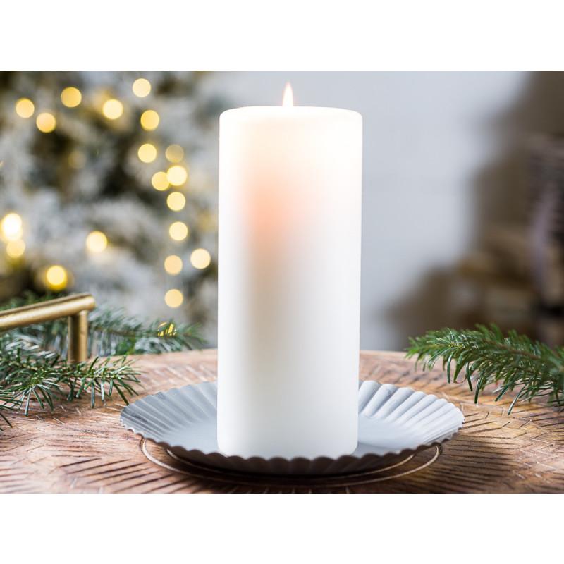 IB Laursen Kerzenteller groß aus Metall 19 cm Weihnachten und Winter Geschenkidee Kerzentablett Weihnachstdeko und Advent