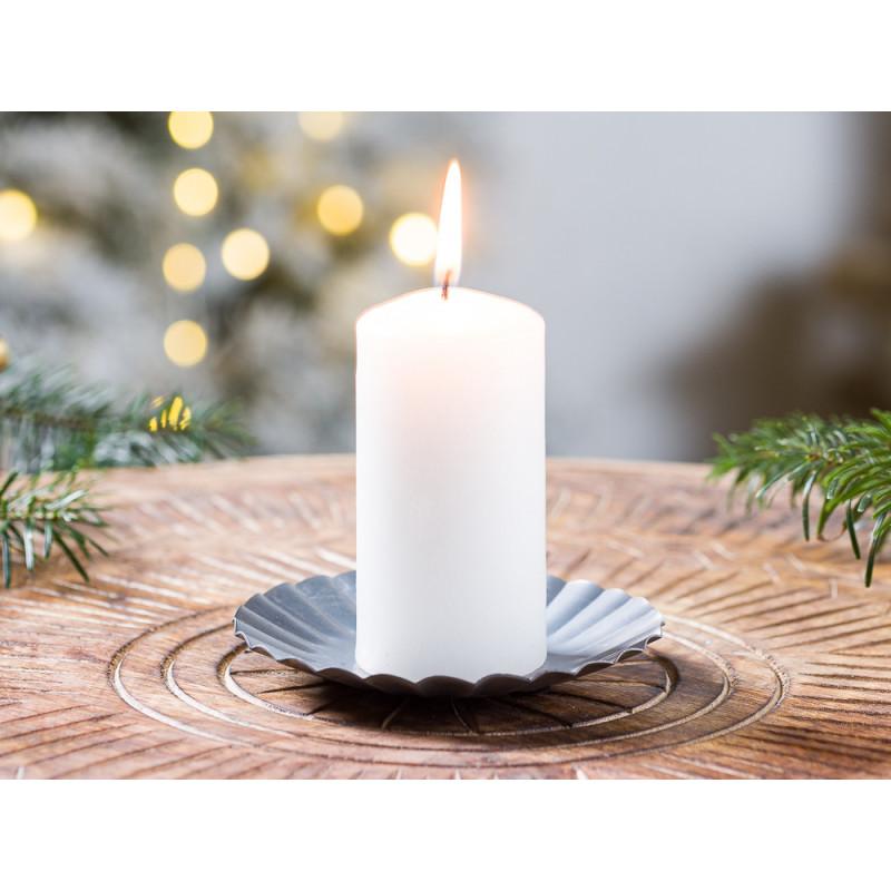 IB Laursen Kerzenteller klein aus Metall 11cm Weihnachten und Winter Geschenkidee Kerzentablett Weihnachstdeko und Advent