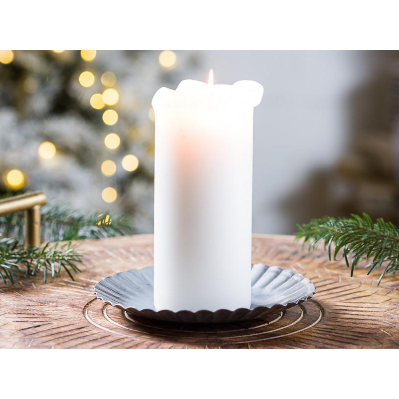 IB Laursen Kerzenteller mittel aus Metall 16 cm Weihnachten und Winter Geschenkidee Kerzentablett Weihnachstdeko und Advent