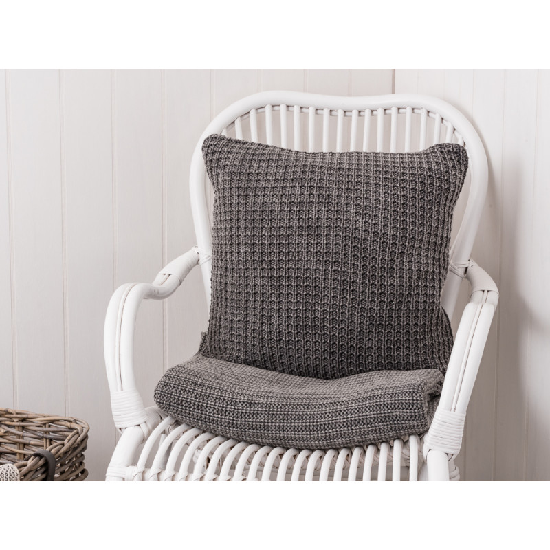 kissenh lle 50x50 grau gestrickt von ib laursen. Black Bedroom Furniture Sets. Home Design Ideas