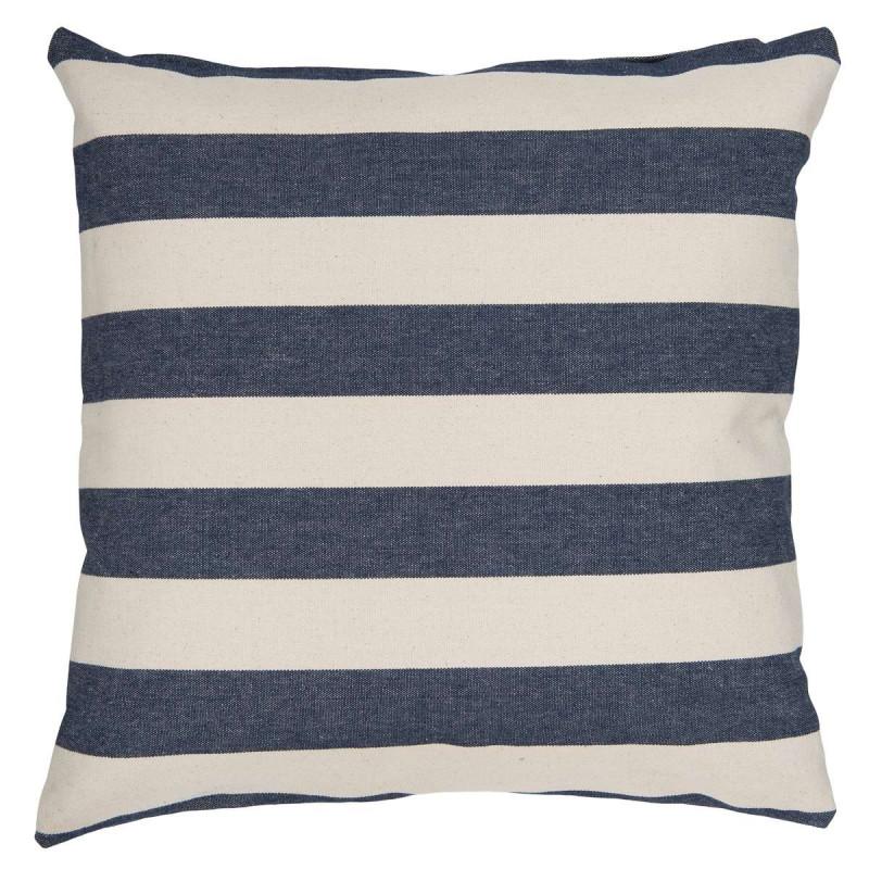 ib laursen kissenbezug streifen breit blau wei kissenh lle aus baumwolle bedruckt mit einem. Black Bedroom Furniture Sets. Home Design Ideas