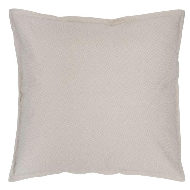 IB Laursen Kissenbezug beige grau Kissen hellgrau creme Karo Muster Baumwolle