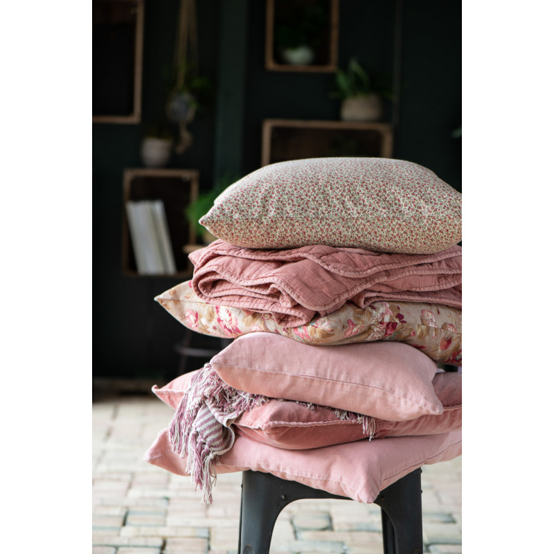 brauner kissenbezug 50x50 mit blumen ib laursen hier kaufen. Black Bedroom Furniture Sets. Home Design Ideas
