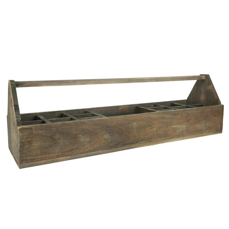 IB Laursen Kiste mit Henkel und 15 Fächer aus Holz 90 cm lang Aufbewahrungskiste