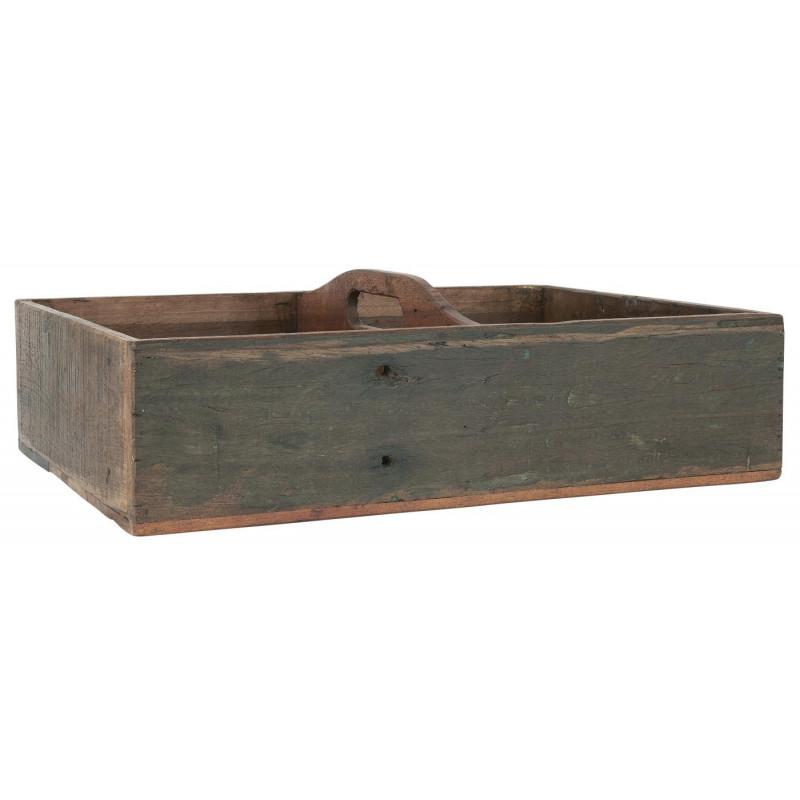 IB Laursen Kiste UNIKA mit 4 Fächern und Henkel IB Laursen Holzkiste Nr 3593-00
