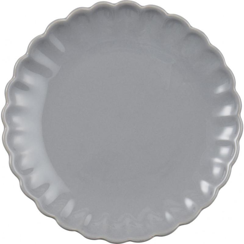 IB Laursen Kuchenteller grau Mynte Geschirr Kollektion Keramik Teller 20 cm French Grey