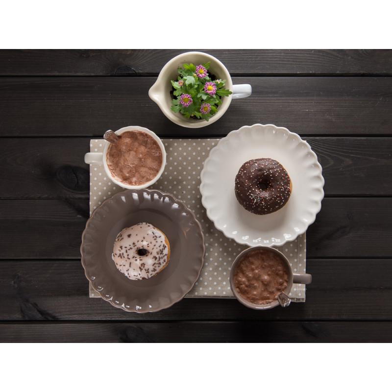 IB Laursen Kuchenteller Rührschüssel Mini Becher mit Rillen creme weiß hellbraun Mynte Milky Brown Butter Cream