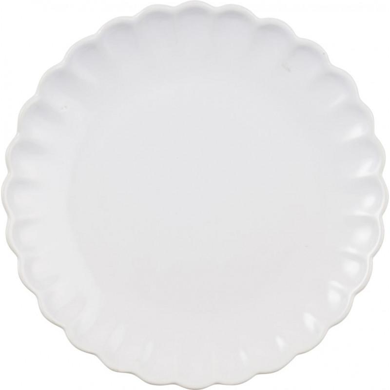 IB Laursen Kuchenteller weiß Mynte Geschirr Kollektion Keramik Teller 20 cm Pure White