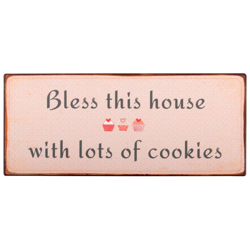 IB Laursen Metallschild bless this house with lots of cookies Schild für Naschkatzen und Keks Freunde
