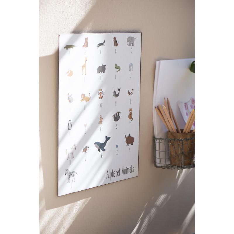 IB Laursen Metallschild mit Tieren und Alphabet Deko für Kinder