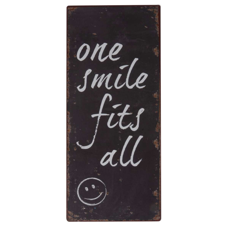IB Laursen Metallschild one smile fits all