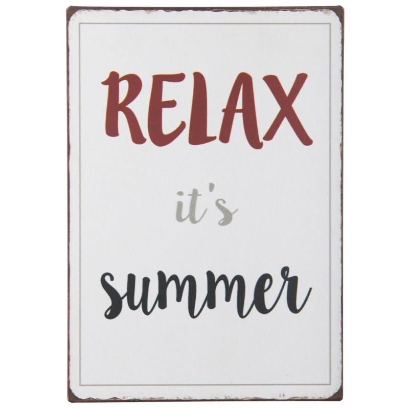 IB Laursen Metallschild Relax it's Summer
