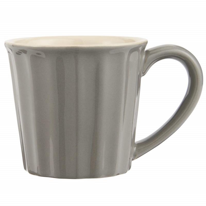 IB Laursen Mynte Becher Granite Grau Keramik Geschirr 250 ml Tasse Dunkelgrau