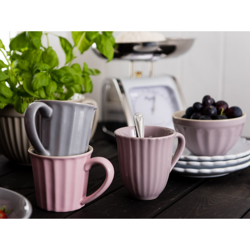 IB Laursen Mynte Becher grau rosa lila Schale Teller weiß Küchenwaage