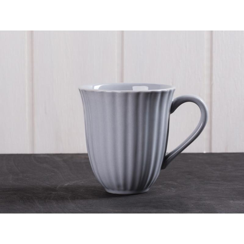 IB Laursen Mynte Becher mit Rillen grau French Grey Tasse