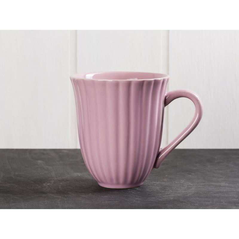 IB Laursen Mynte Becher mit Rillen Lavendel Lila Keramik Geschirr Serie Lavender 250 ml