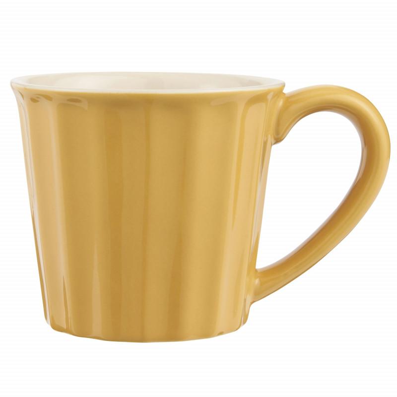 IB Laursen Mynte Becher Mustard Gelb Keramik Geschirr 250 ml Tasse Senfgelb