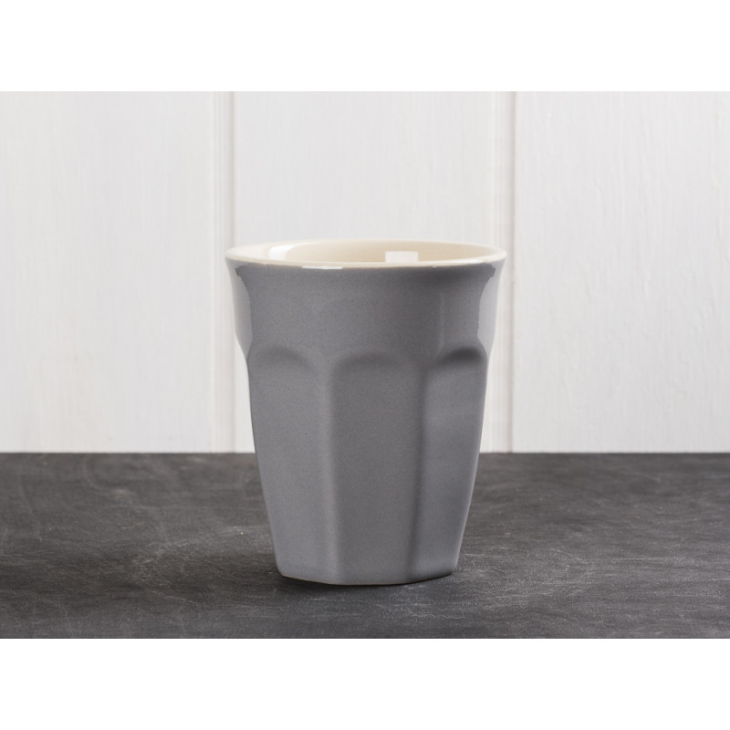 IB Laursen Mynte Cafe Latte Becher Granit Grau Keramik Geschirr Serie Granite 250 ml