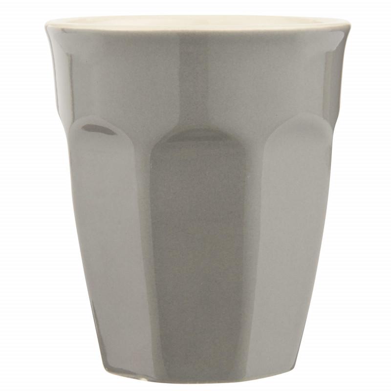 IB Laursen Mynte Cafe Latte Becher Granite Grau Keramik Geschirr 250 ml