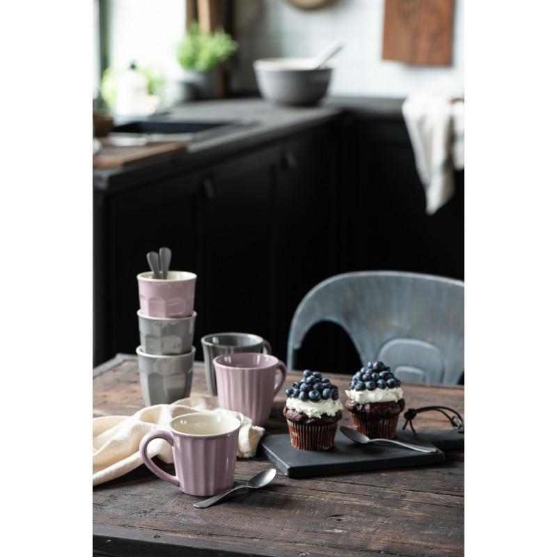 IB Laursen Mynte Cafe Latte Becher Granite Grau und Lavendel Tassen und Muffins