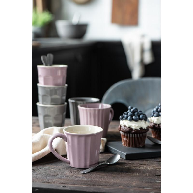 IB Laursen Mynte Cafe Latte Becher Lavender Lila Keramik Geschirr mit Granite Tassen und Muffins