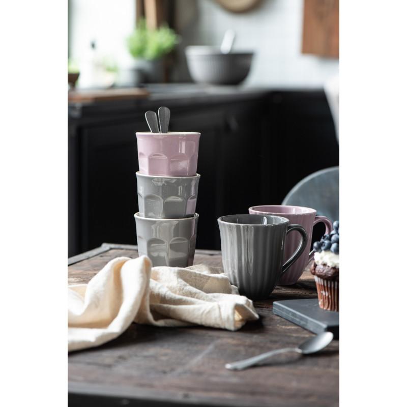 IB Laursen Mynte Cafe Latte Becher Lavender Lila Keramik Geschirr Tassen Stapel mit Granite