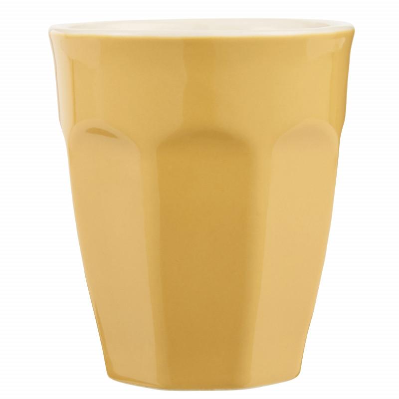 IB Laursen Mynte Cafe Latte Becher Mustard Gelb Keramik Geschirr 250 ml