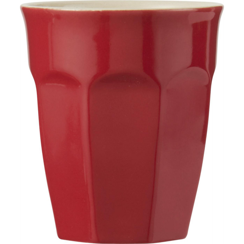 IB Laursen Mynte Cafe Latte Becher rot Tasse aus Keramik Strawberry
