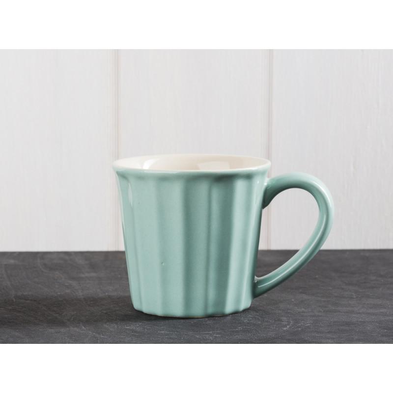IB Laursen Mynte Geschirr Green Tea Tasse hellgrün Becher mit Henkel aus Keramik grün