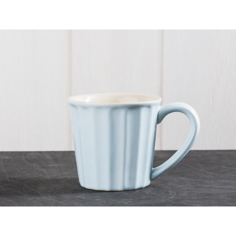 IB Laursen Mynte Geschirr Stillwater Tasse hellblau Becher mit Henkel aus Keramik blau